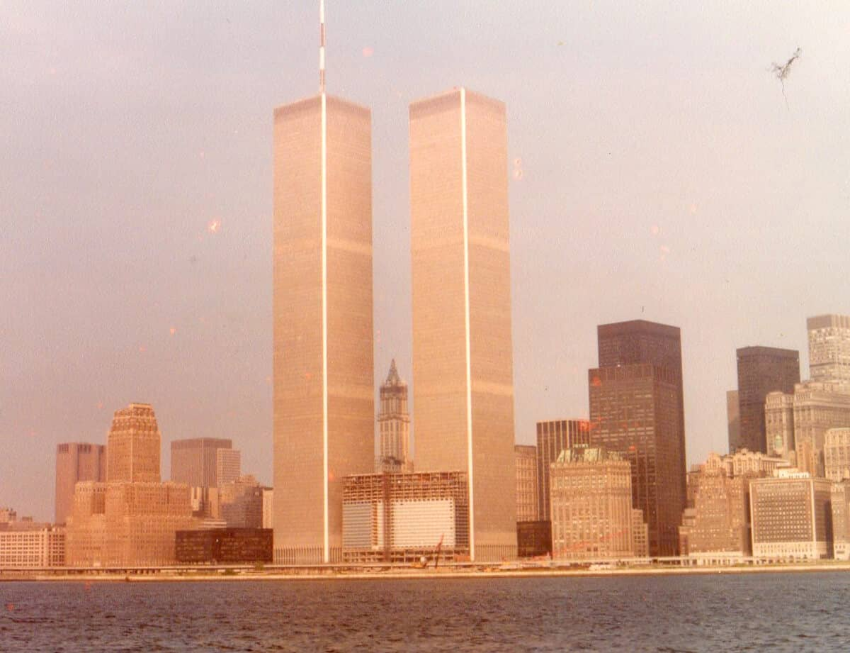 Twin Towers. Memories of Childhood Trips