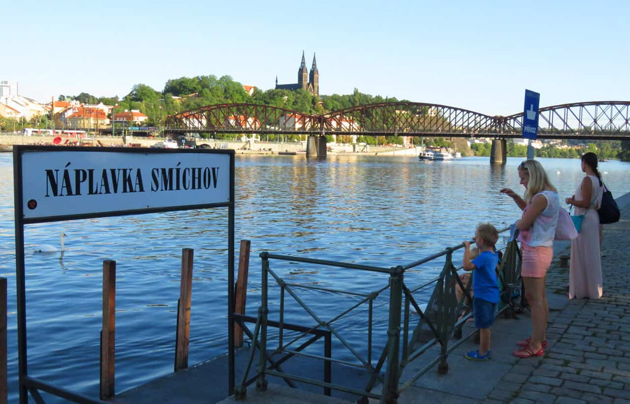 taking the ferry in Prague