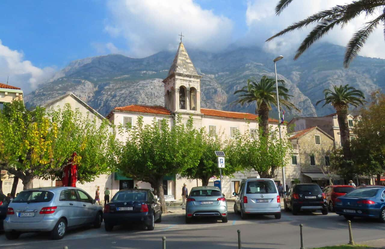 church in Makarska, Croatia