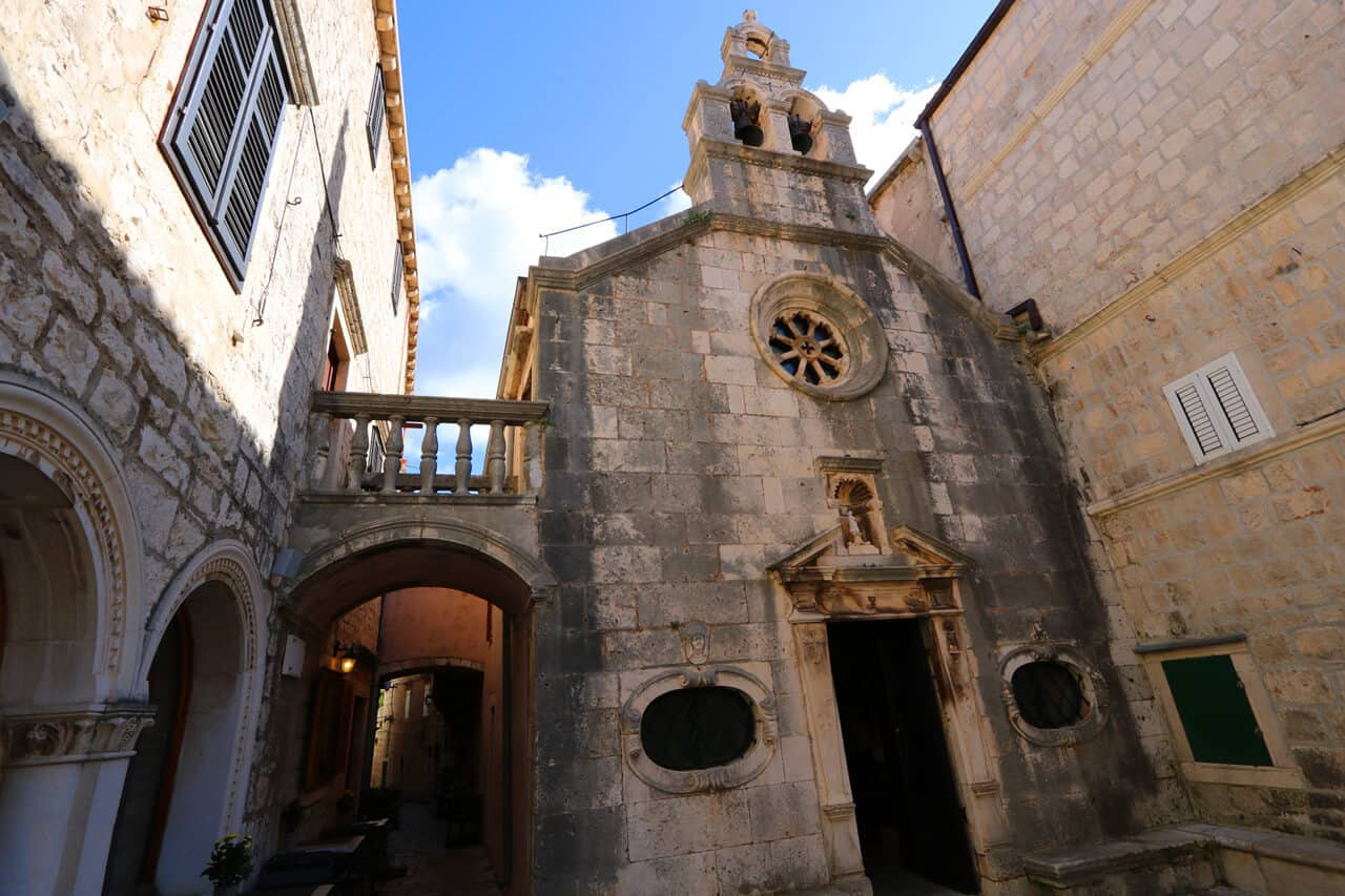 St.Michael's church on Stjepan Radic Square, Korcula