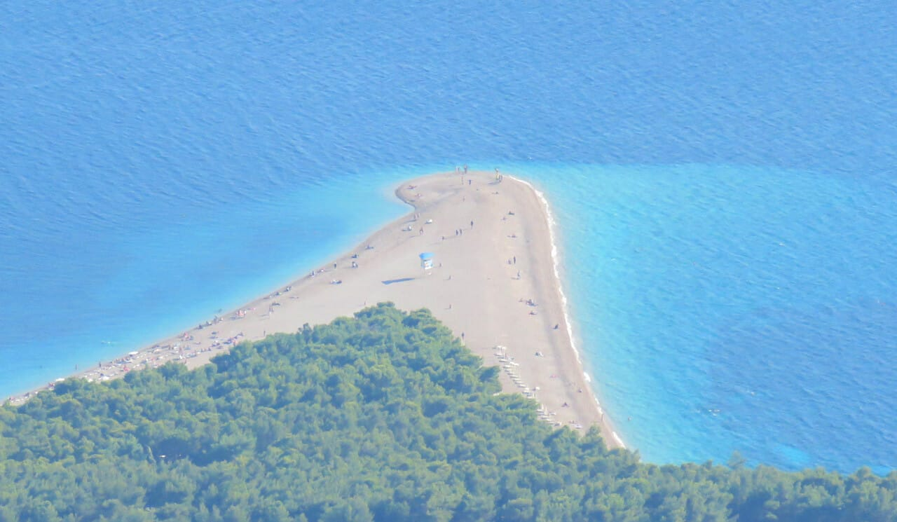 Zlatni Rat beach, Brač Island, Croatia from Vidova Gora