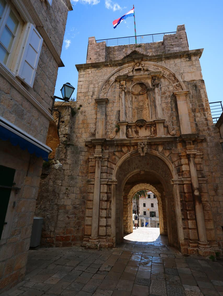 Land Gate, Korcula, Croatia