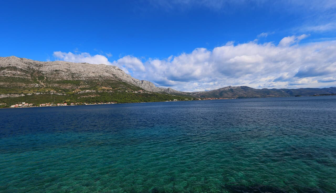 Peljesac Channel, Korcula, Croatia