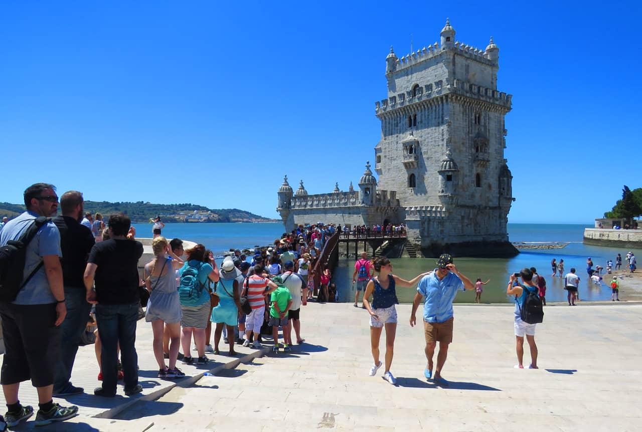 Tourist crowds in Belem, Lisbon. Tourism and when the locals hate you.