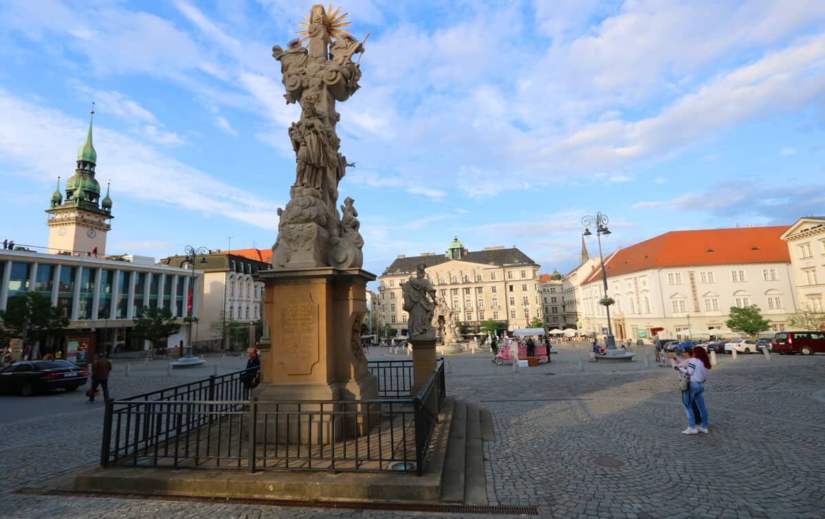 Square in Brno, Czech Republic. What's Brno like? A month in the Czech Republic's 2nd city.