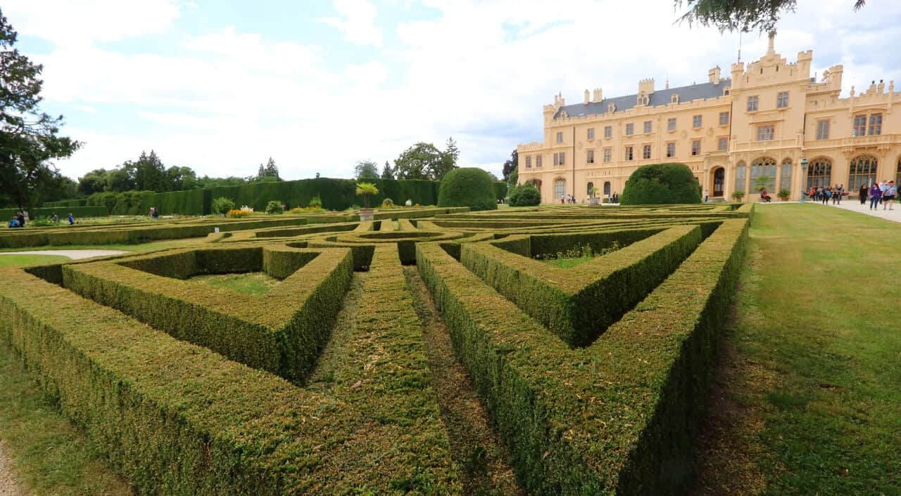 Lednice castle grounds, Czech Republic. Great Day Trips from Brno: Mikulov and Lednice