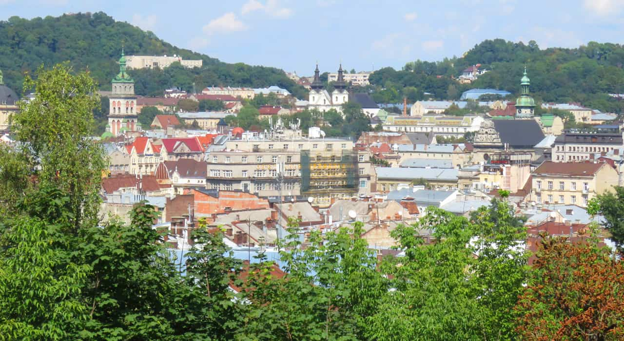 views of Lviv from the Citadel
