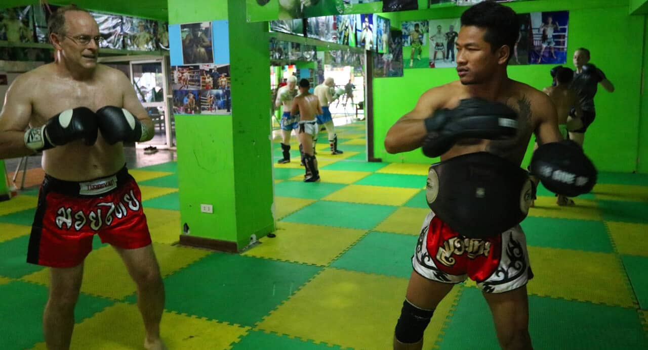 Muay Thai training in Chiang Mai