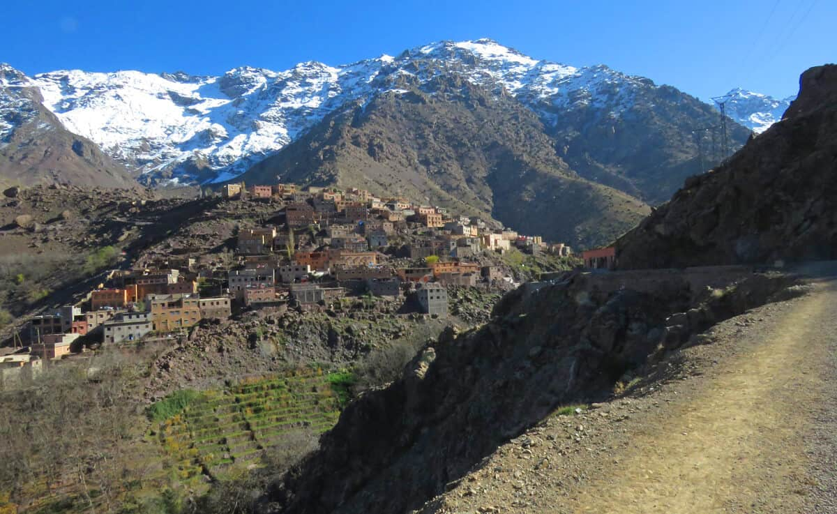views of Aroumd and Toubkal, Morocco