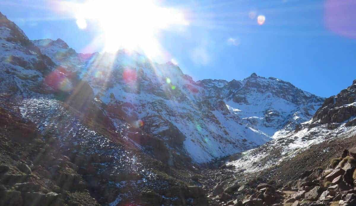 views of mount Toubkal, Morocco