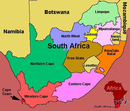 The BIG Guide to South Africa. Map