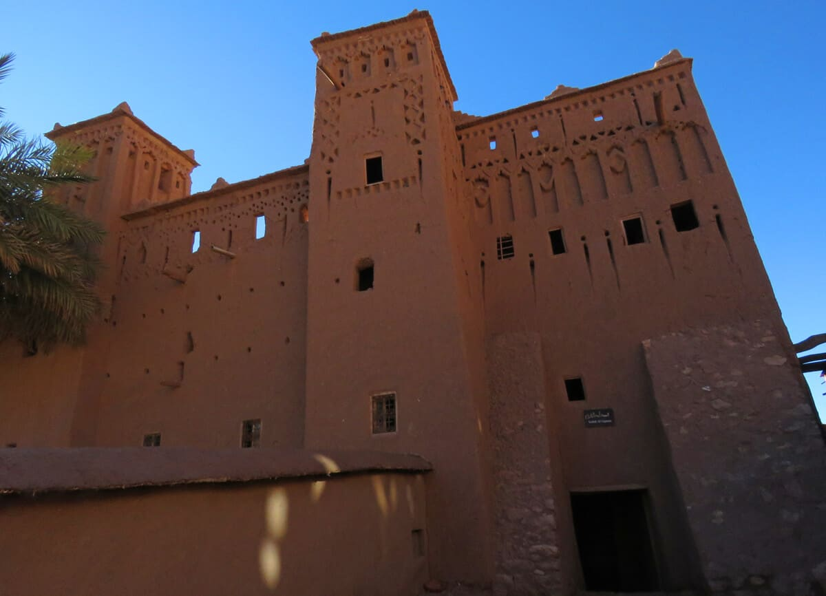 mud building in Ait Benhaddou, Morocco