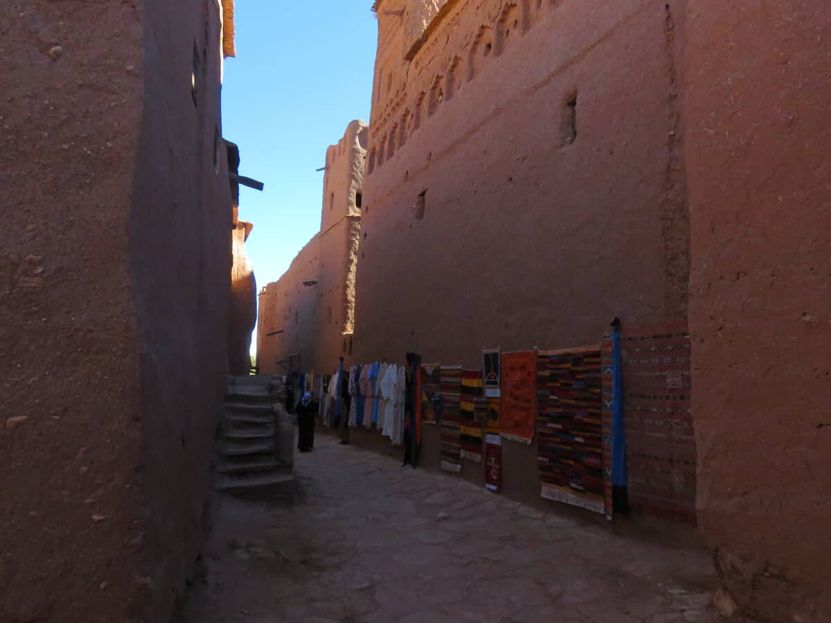 street in Ait Benhaddou, Morocco