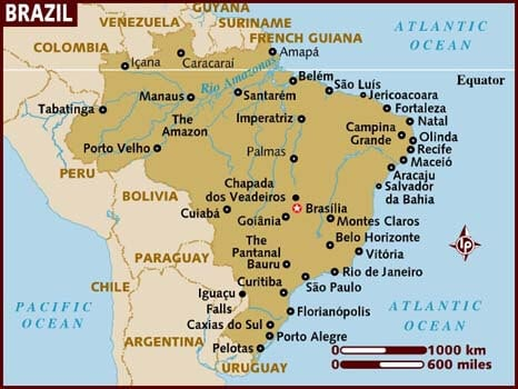 Brazil Guide – Where to Go and what to Do. Map