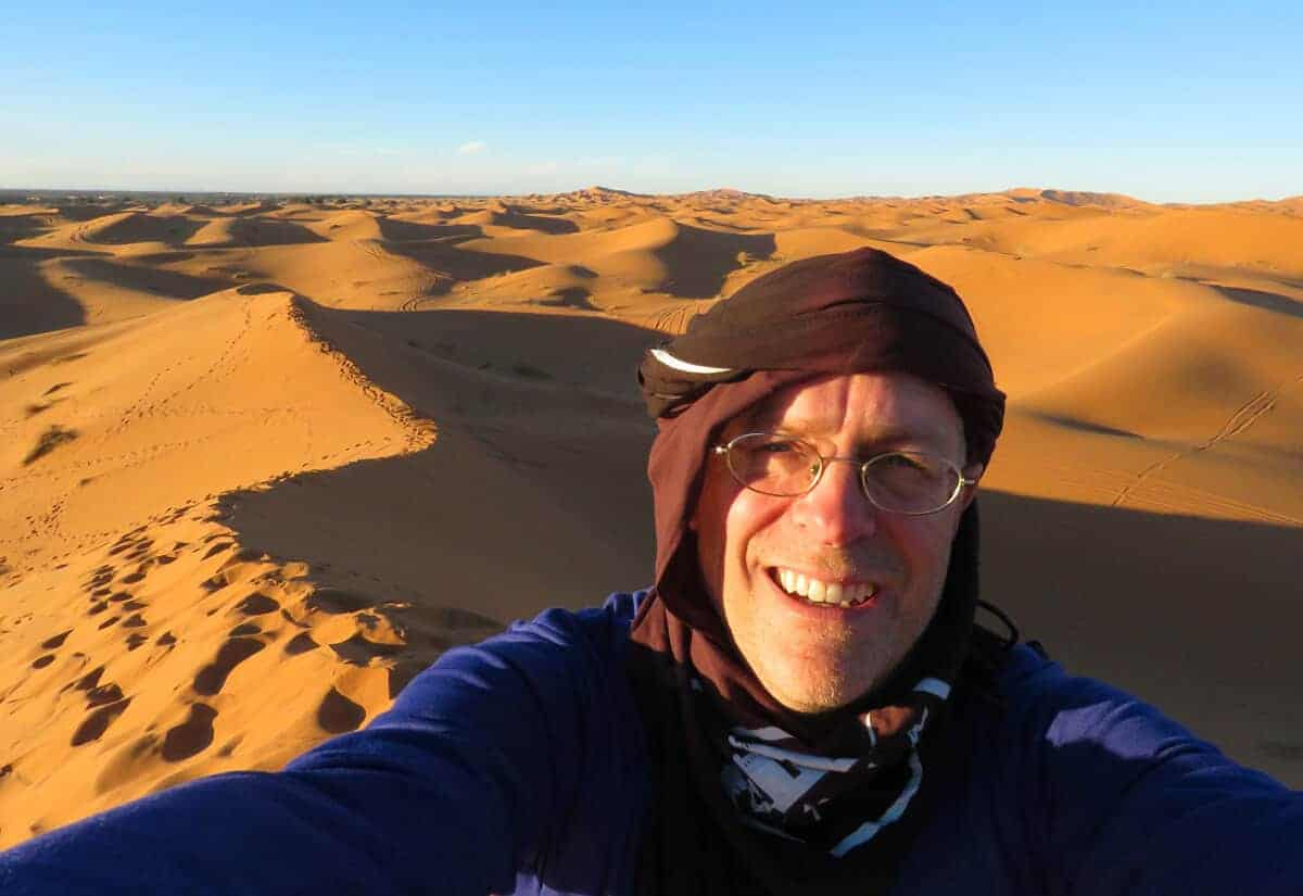 selfie in Merzouga. Why Merzouga was a highlight of my 5 week Morocco trip