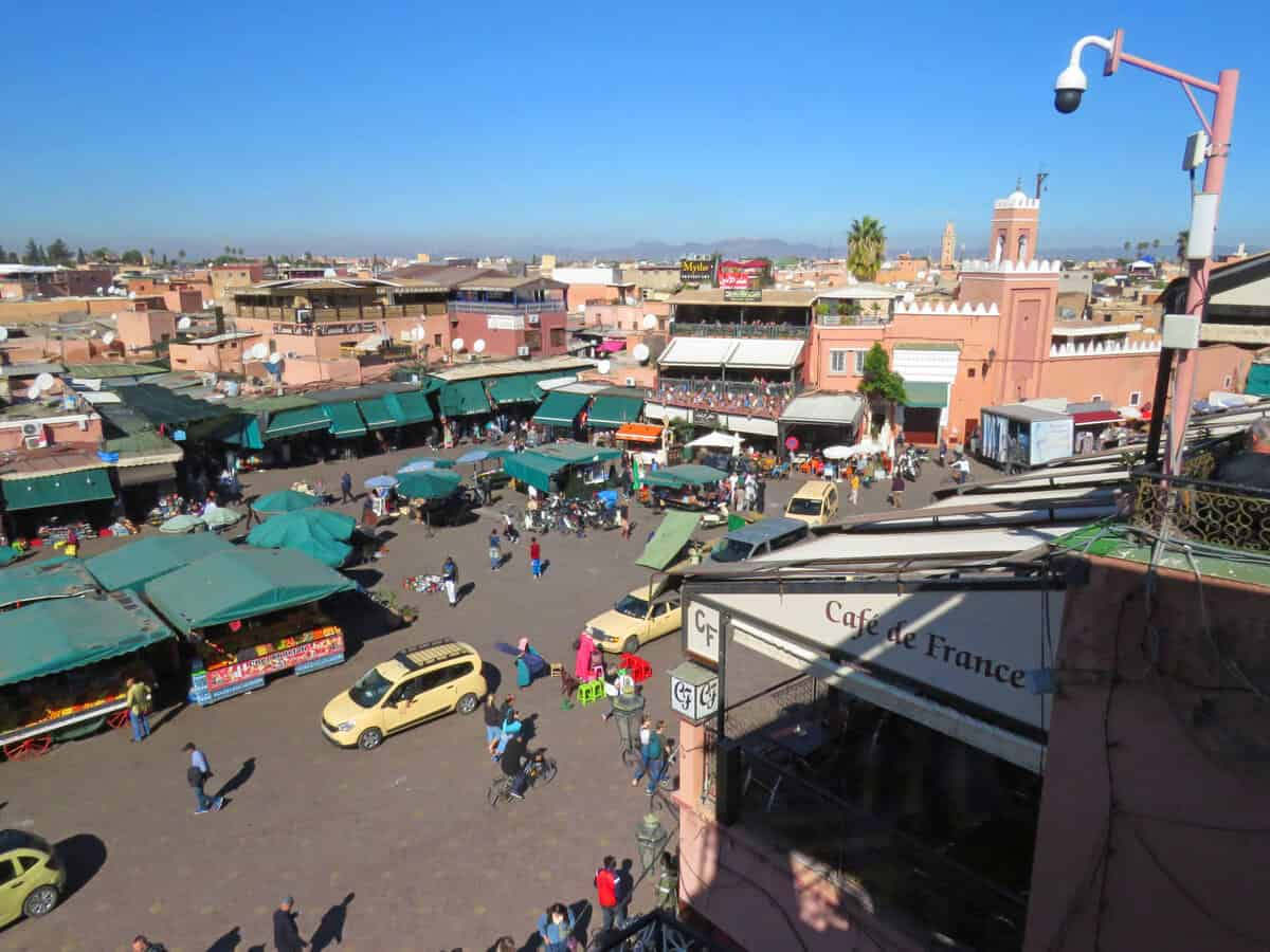 Jemaa el-Fnaa, the main square in Marrakech