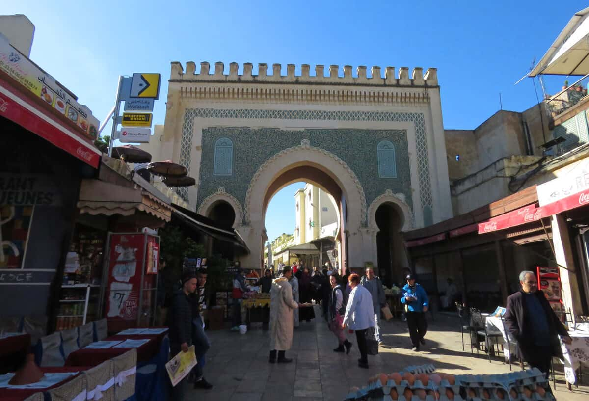 Bab Bou Jeloub in Fez. Green