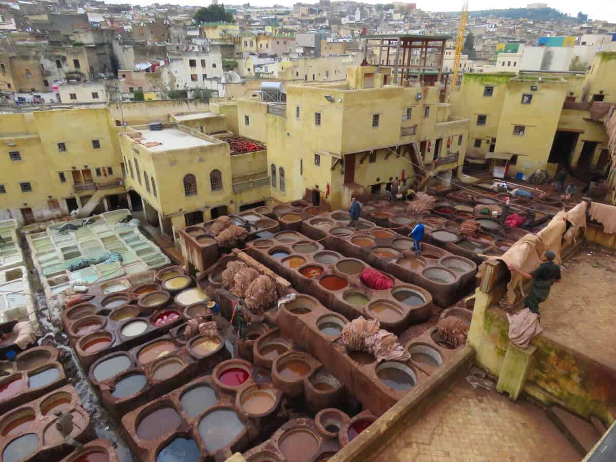 Tanneries in Fez. Fez or Marrakech? Which to Visit?