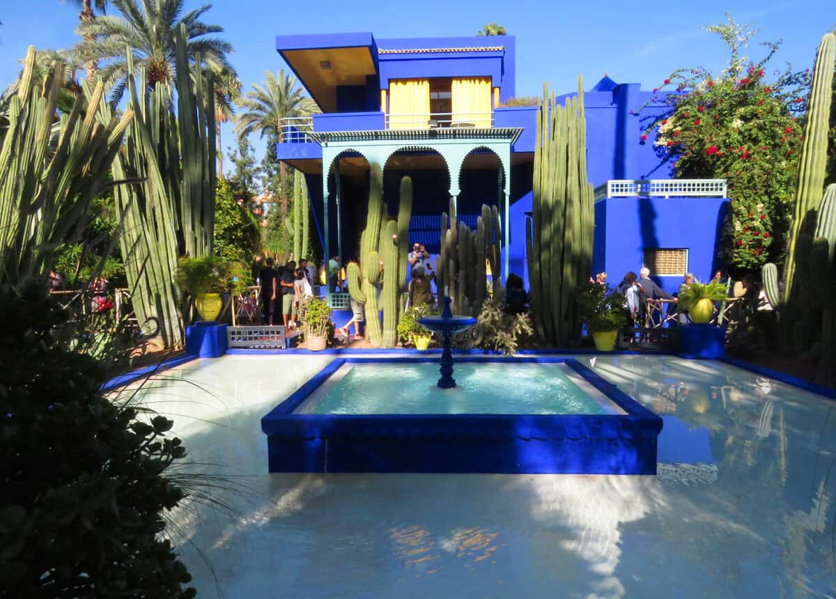 Majorelle Gardens in Marrakech. Fez or Marrakech? Which to Visit?