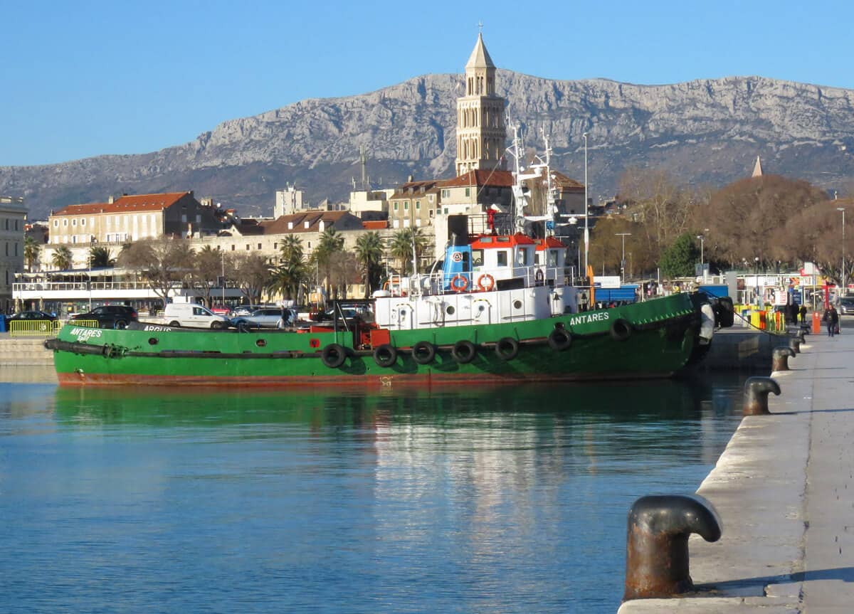 tugboat in Split, Croatia