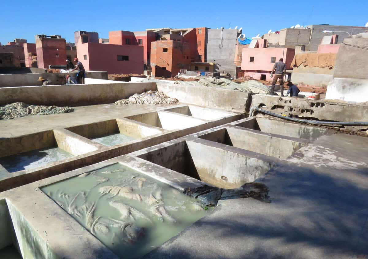 Tanneries in Marrakech, Morocco. AVOID.