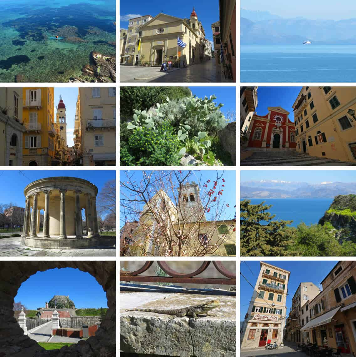 images of Corfu town, Greece