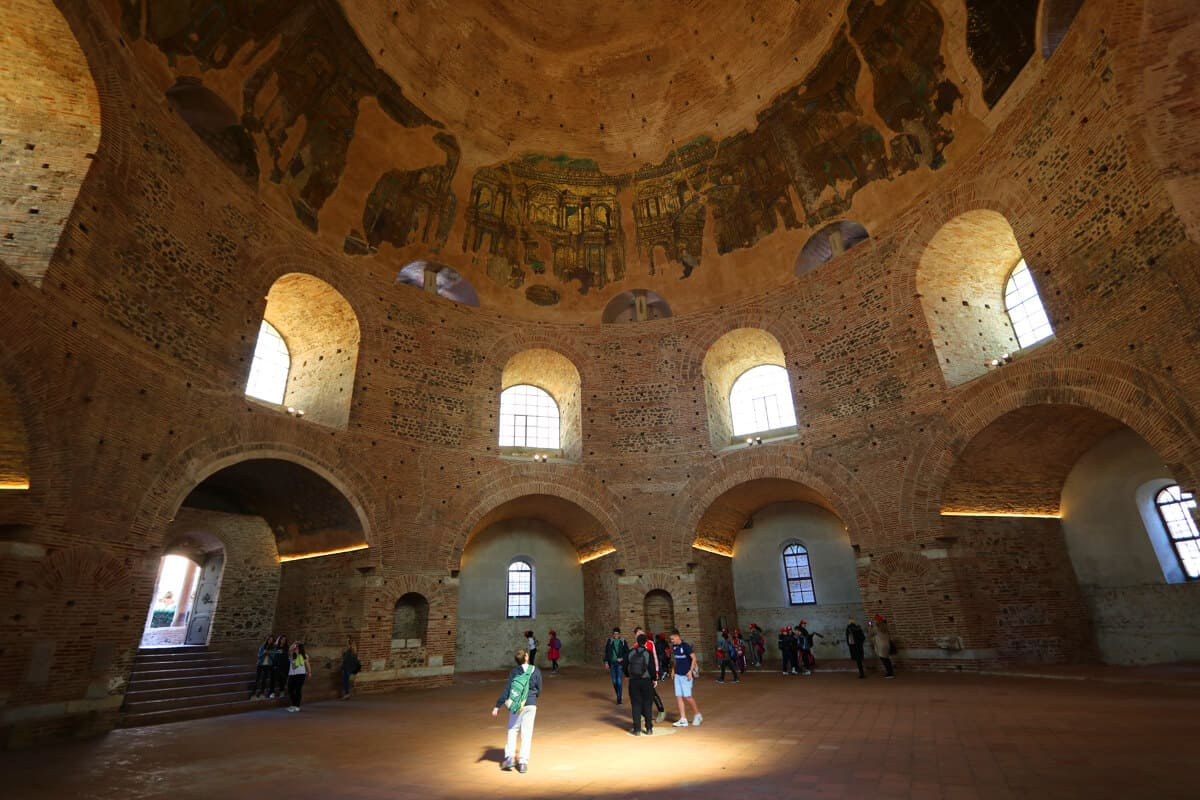 Roman Rotunda interior, Thessaloniki, Greece