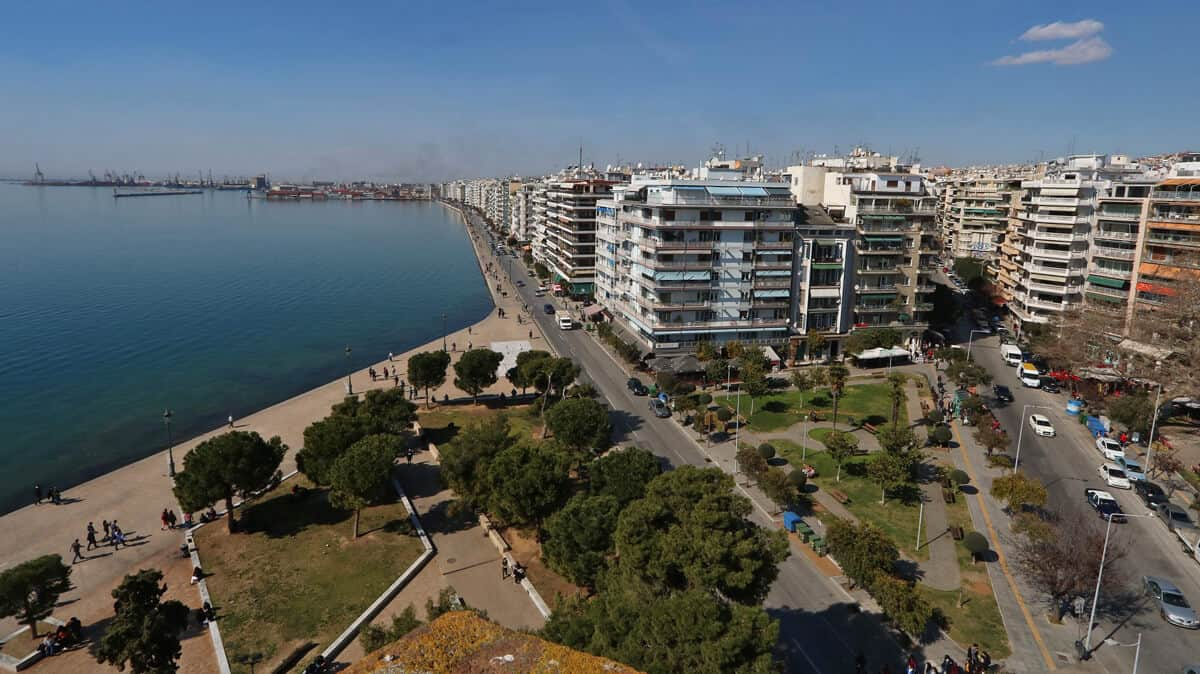 views of Thessaloniki from the White Tower
