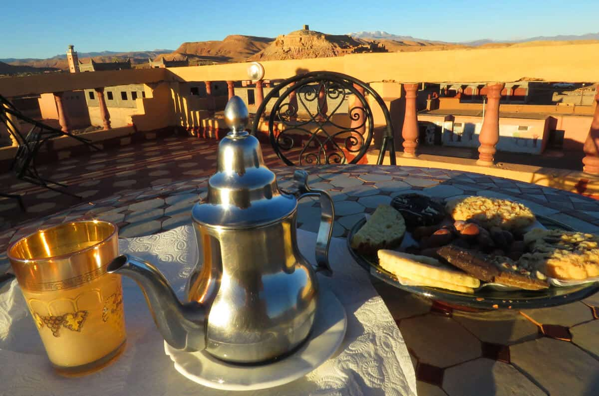 mint tea in morocco, ait benhaddou