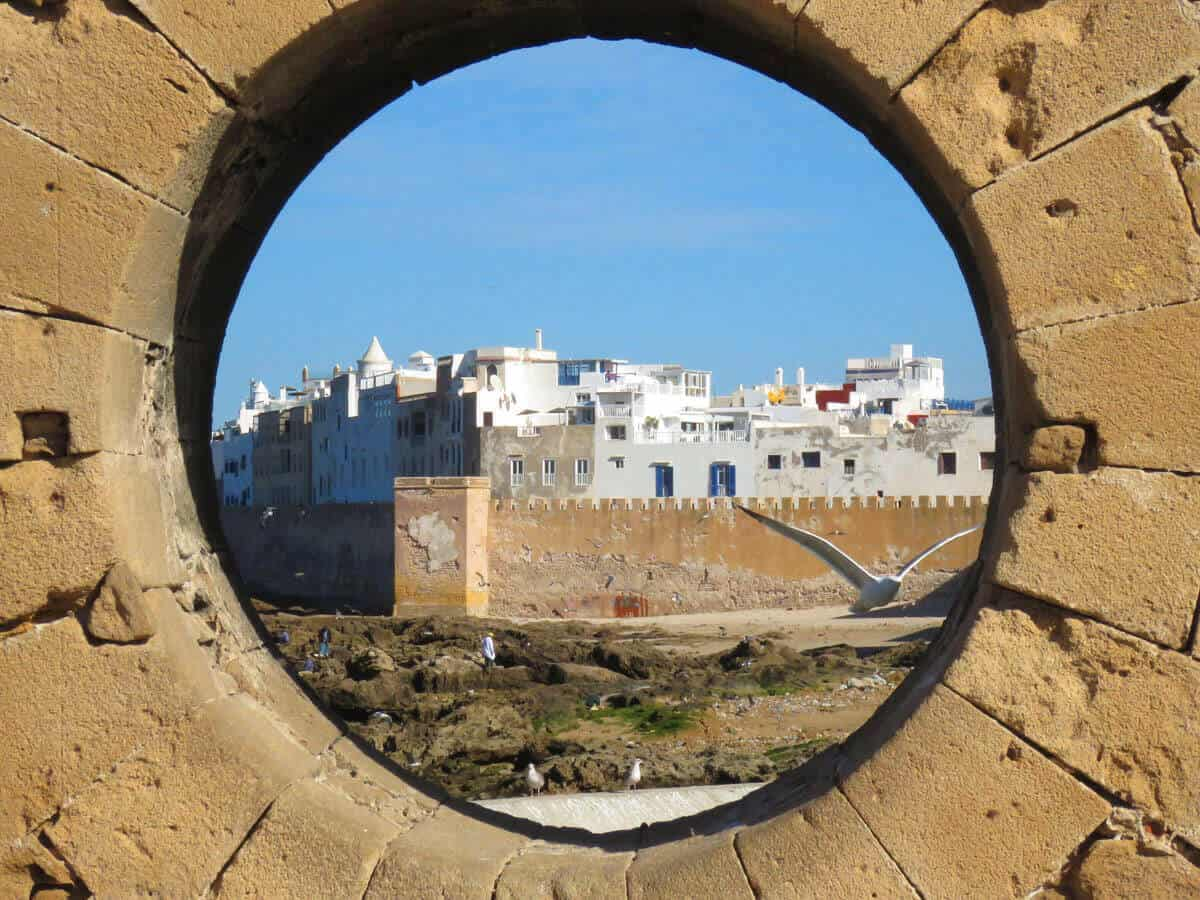 Hole in Essaouira, Morocco
