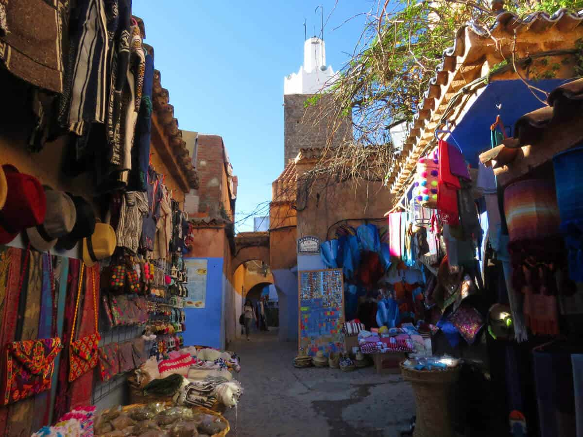 market in Chefchaouen, Morocco