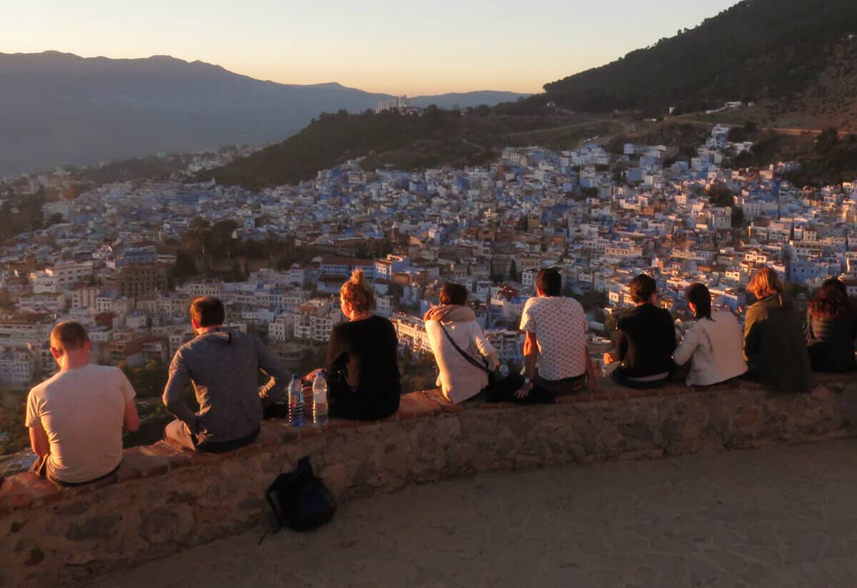 Views over Chefchaouen Morocco