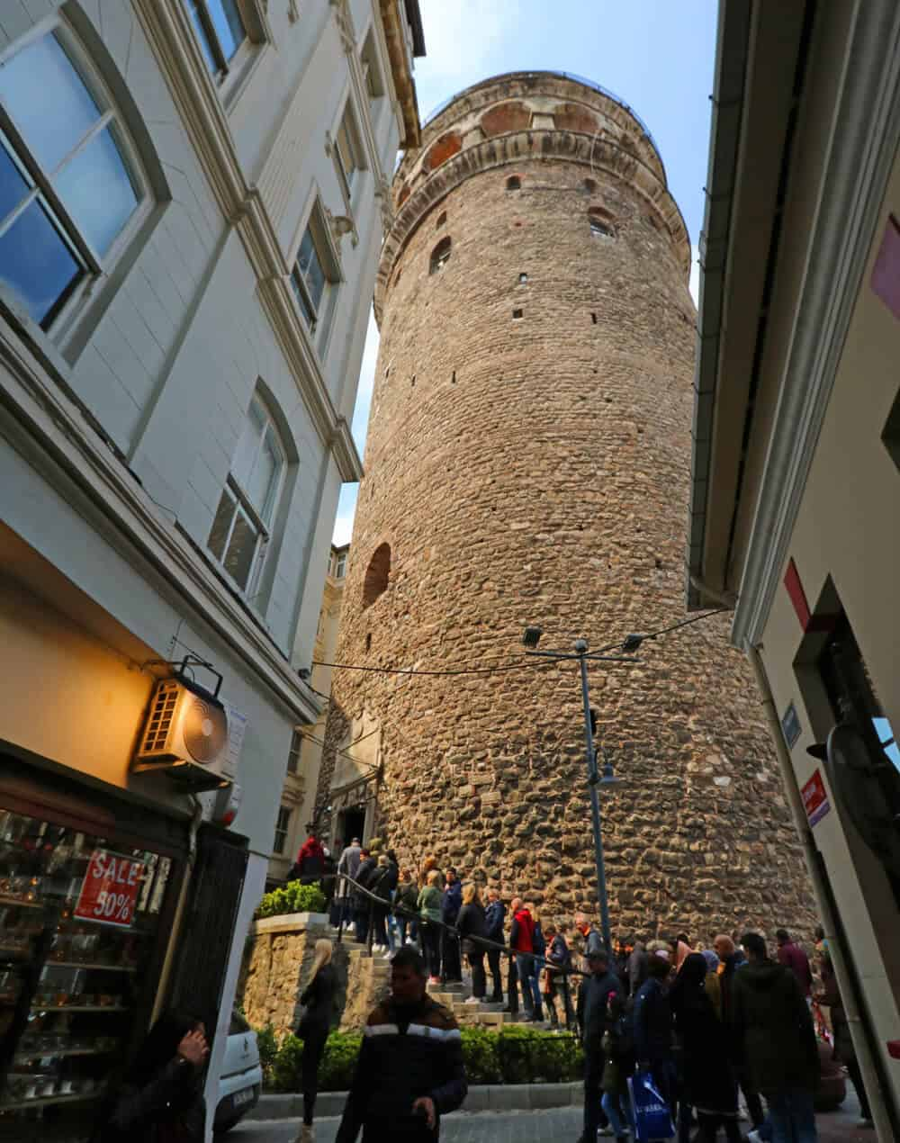 crowds at galata tower, Istanbul