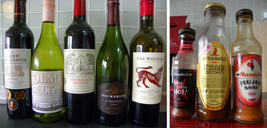 South African wines and sauces
