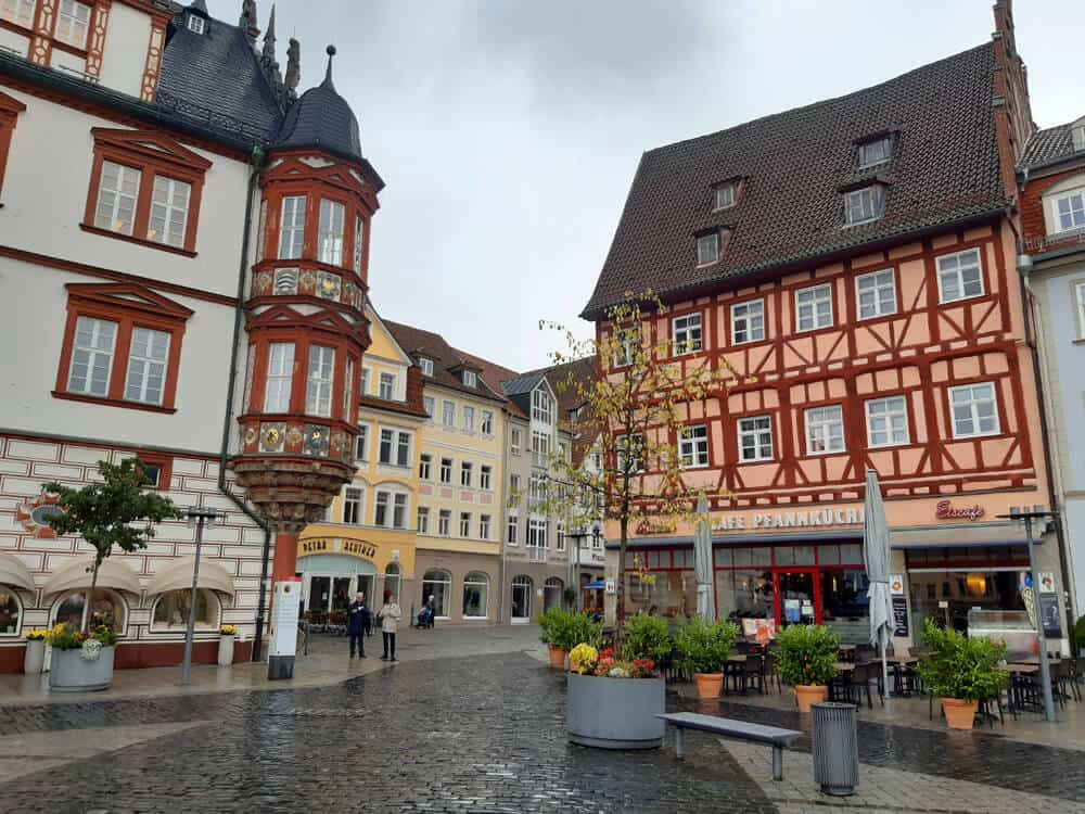 Market Square in Coburg, Germany. Visiting the really pretty town of Coburg, Germany