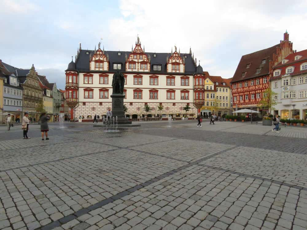 The huge market square in Coburg Germany