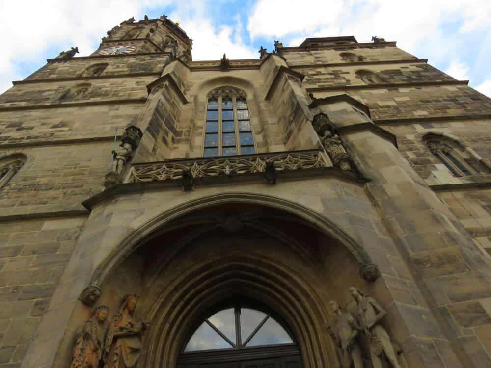 Morizkirche. Visiting the really pretty town of Coburg, Germany