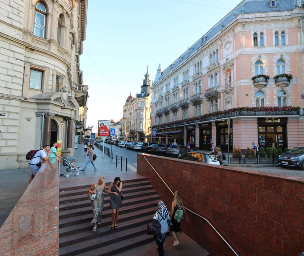 Shevchenko Avenue and George Hotel, Lviv
