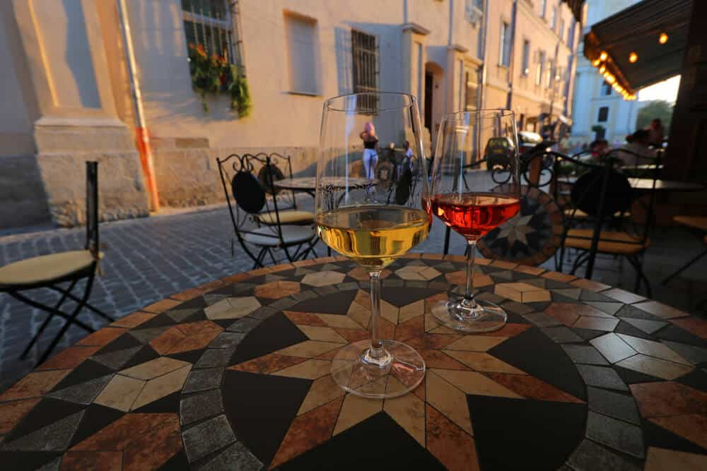 drinking wine and selfie pose in Lviv. Why we loved our Summer in Lviv (in photos)
