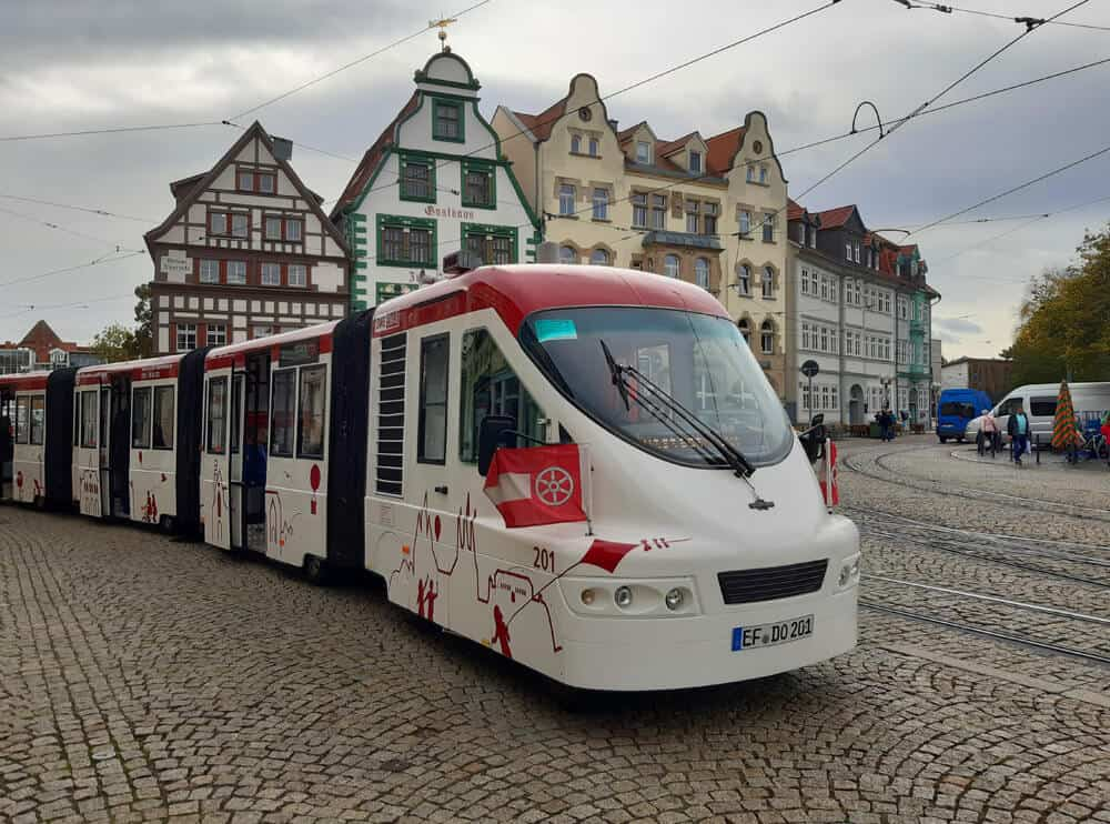 tourist center bus tour in Erfurt Germany