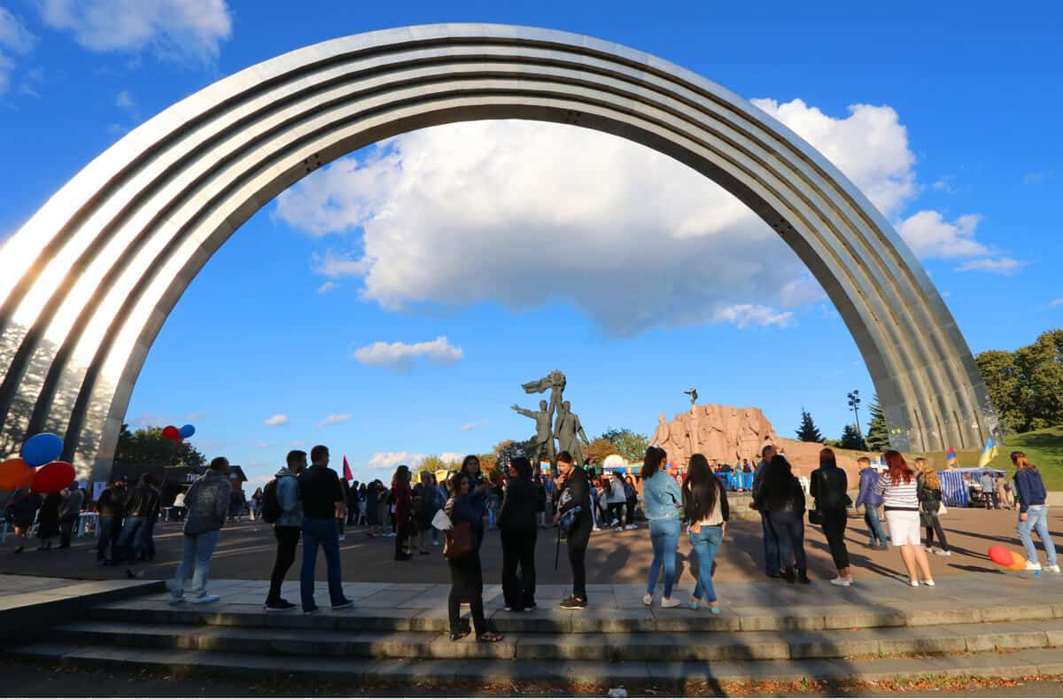 People's Friendship Arch. The Impeachment inspired Travel Guide to Kyiv (Ukraine)