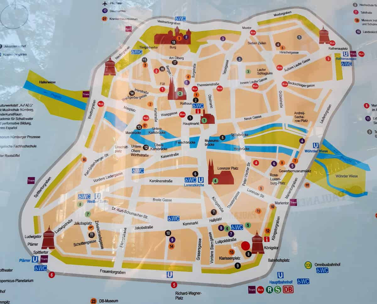 Tourist Map of Nuremberg. Why Nuremberg is worth a Visit