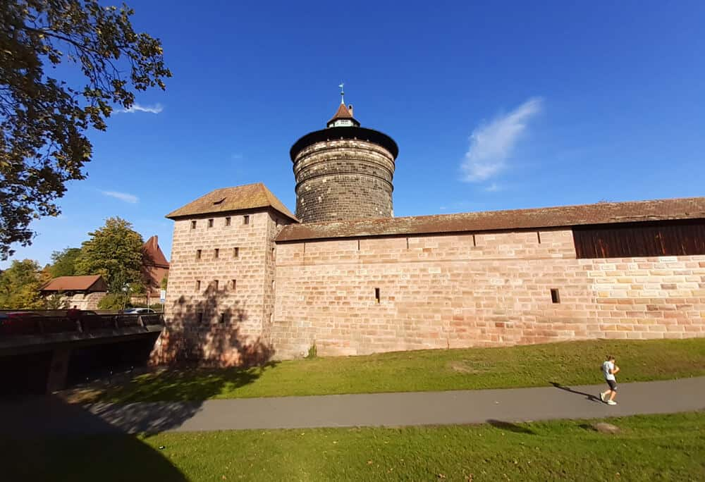 Historic Walls, Towers and underground tunnels in Nuremberg Germany