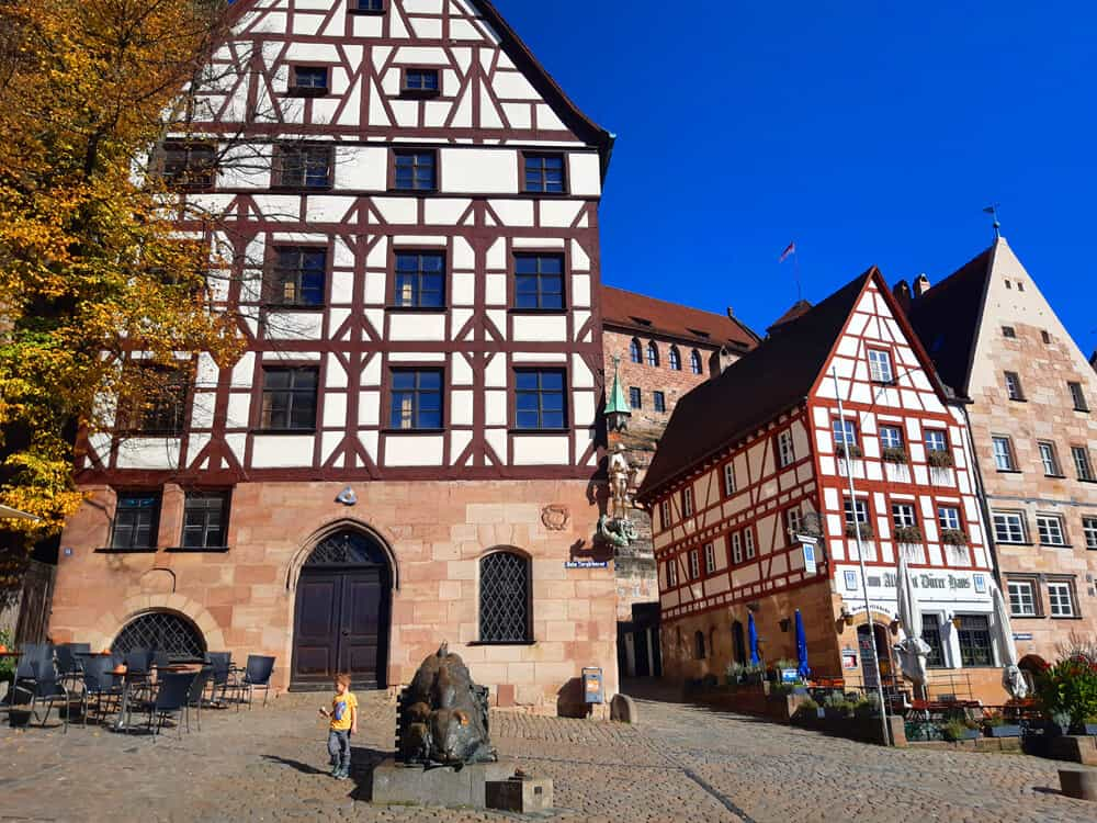 square beneath Nuremberg castle. Why Nuremberg is worth a Visit