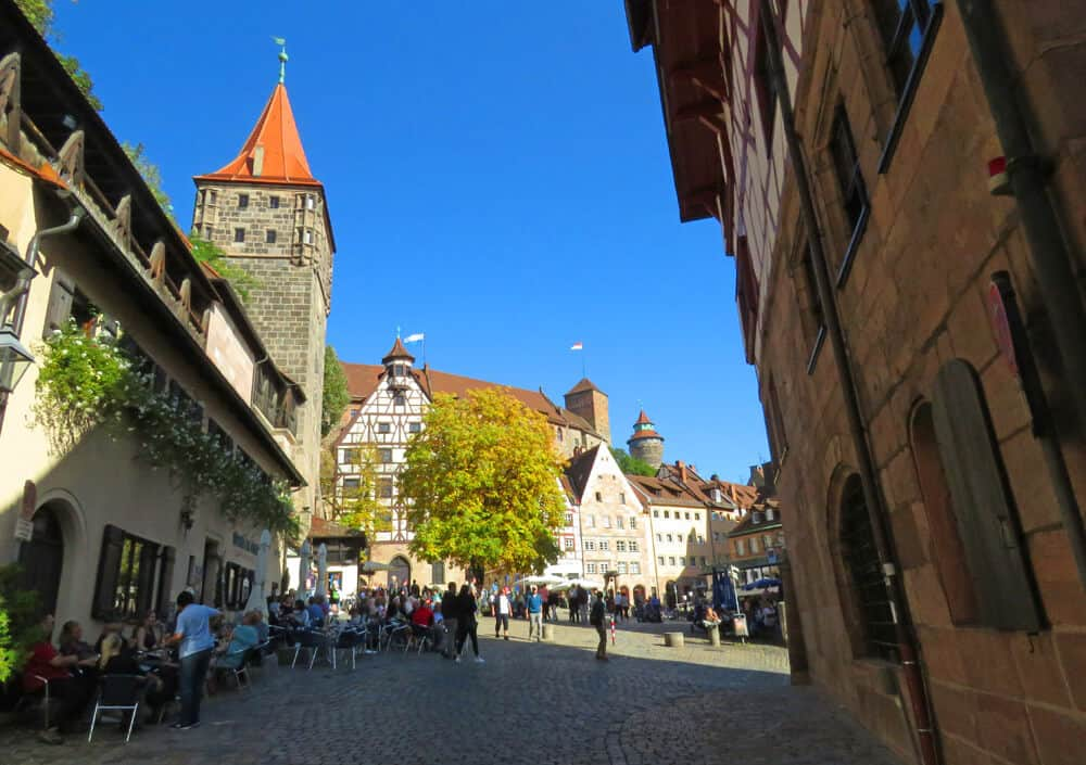 pretty square in Nuremberg, Germany