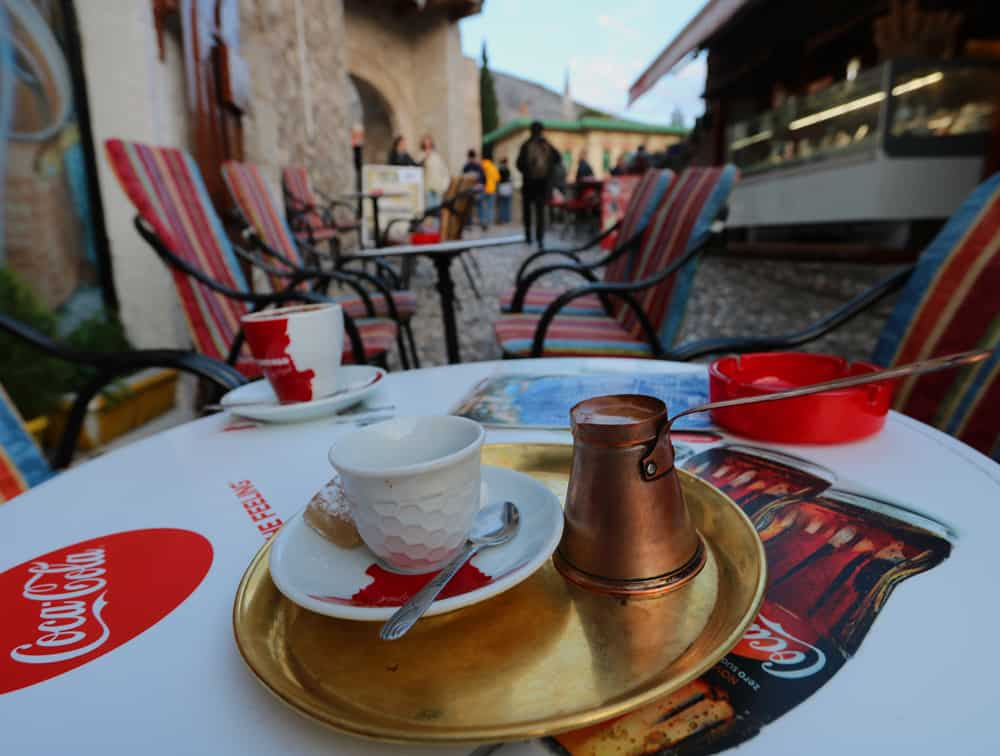 Bosnian coffee in Mostar. Why Mostar needs more than just a day trip