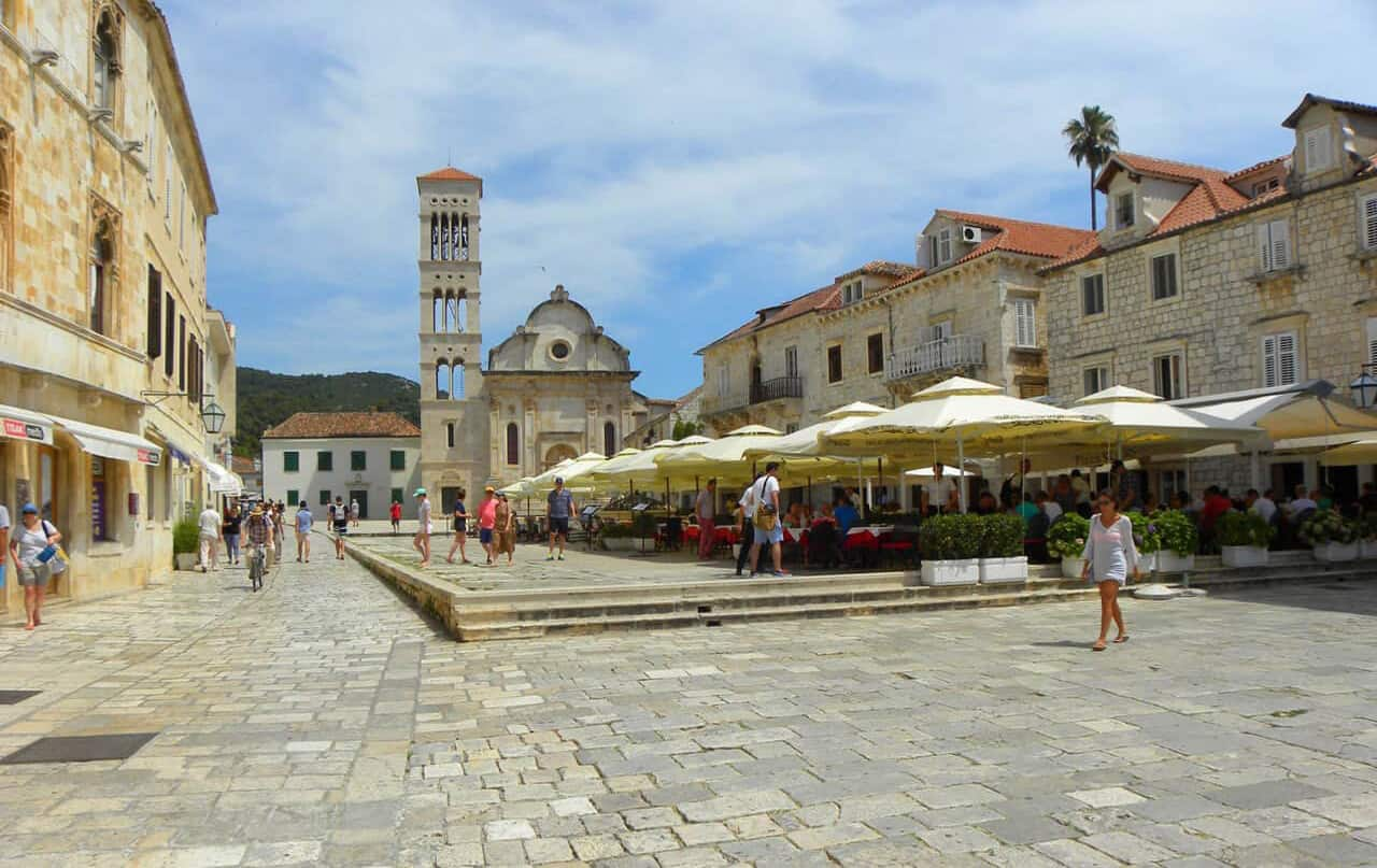 The largest square in Dalmatia, Hvar