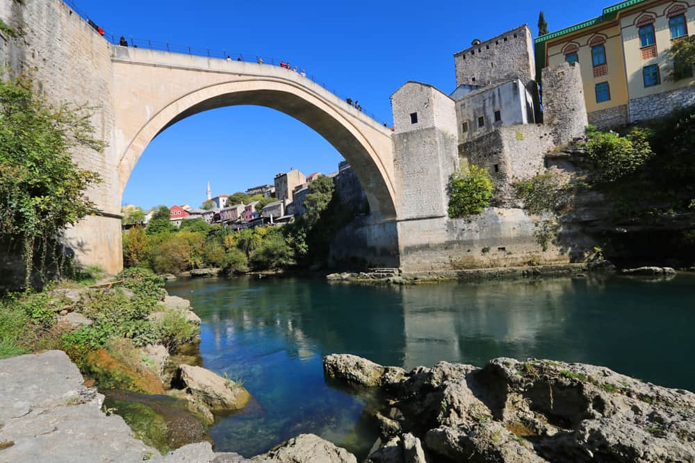 Views of Stari Most (old bridge) in Mostar. Why Mostar needs more than just a day trip