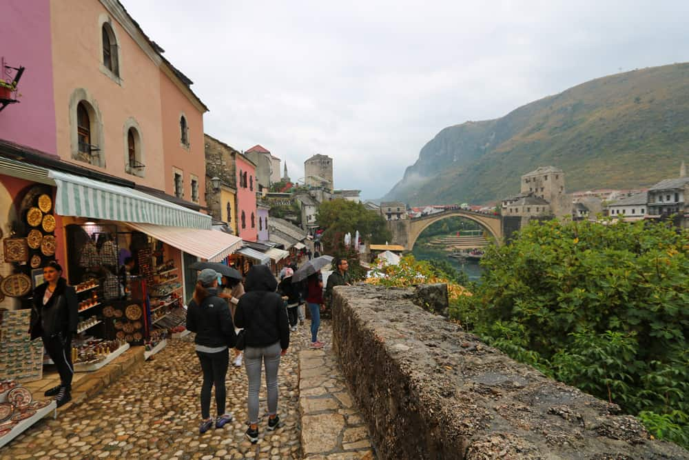 a rainy day in Mostar