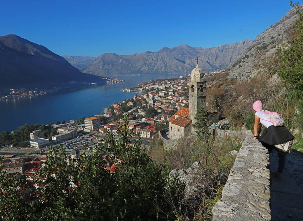 hiking to the fortress of St. John, Kotor